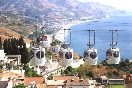 Taormina: Einzigartige Lage von Taormina auf Sizilien